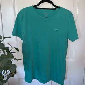 American Eagle Outfitters Teal T-Shirt